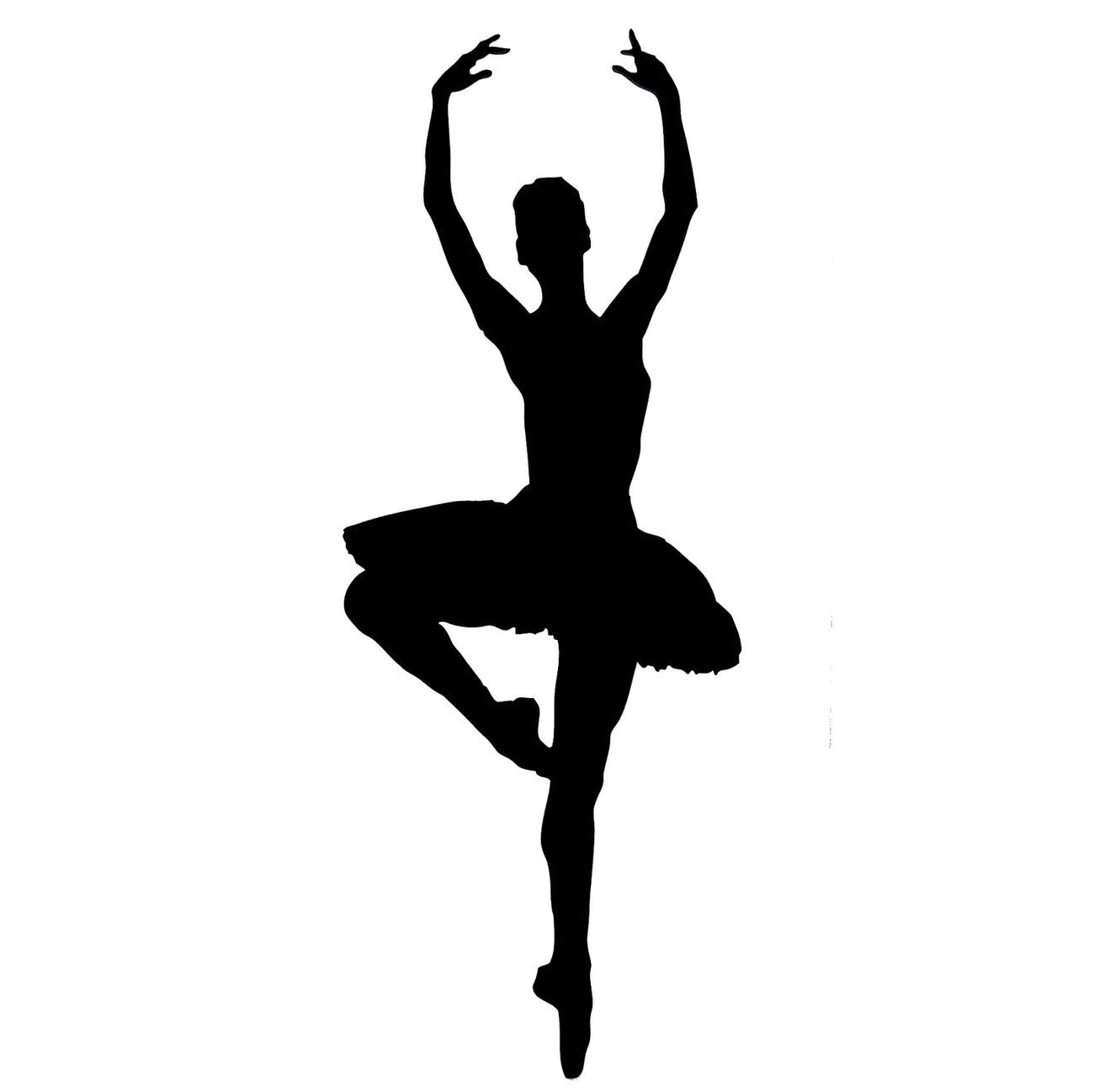 Free coloring pages of ballet dancer siluet