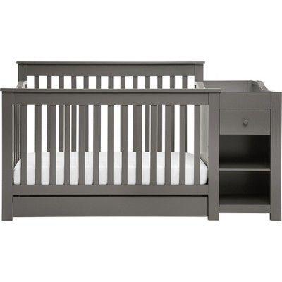 Davinci Piedmont 4 In 1 Crib And Changer Combo Slate Cribs 4 In 1 Crib Convertible Crib