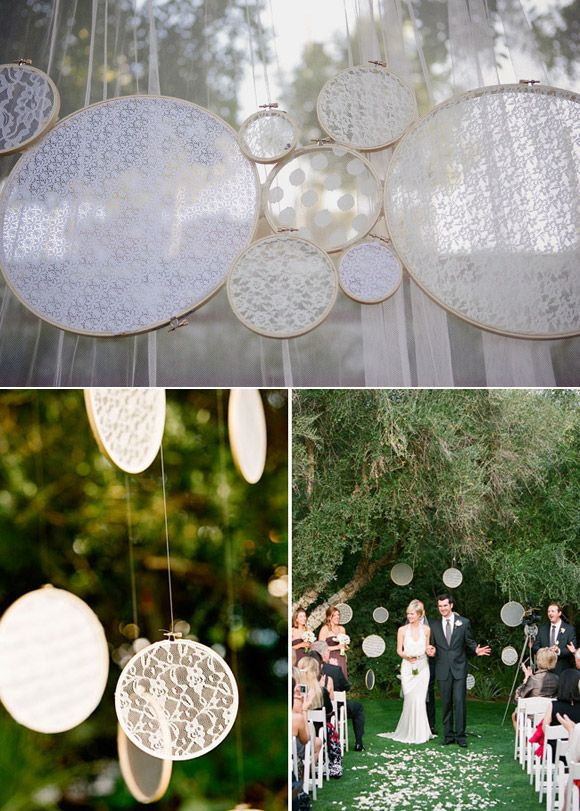 decorar la boda originales ideas con bastidores