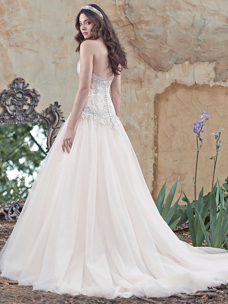 Maggie Sottero Wedding Dress CLEO sz 12 White/Pewter Brand NEW!! NEW ...