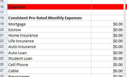 Free Google Docs  Excel Personal Budget Planner Spreadsheet