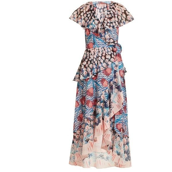 db7fab3753e Temperley London Garden cactus-print ruffled wrap dress ( 965) ❤ liked on  Polyvore featuring dresses