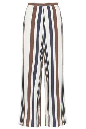 PETITE Stripe Wide Leg Trousers