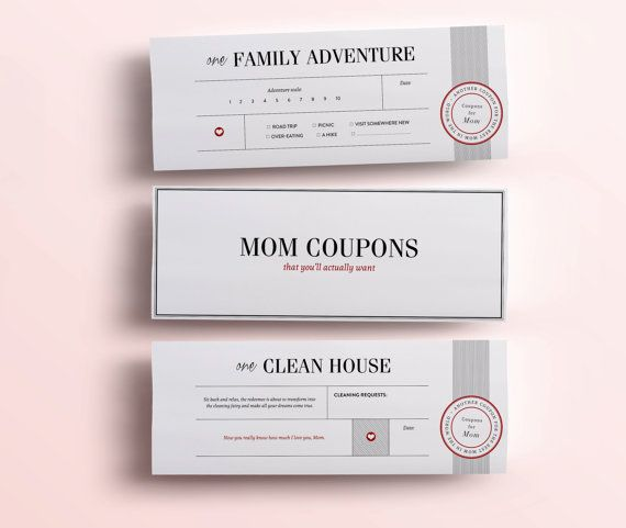 Fun Mothers Day Gift - 11 Printable Coupons For Mum, Unique Gifts