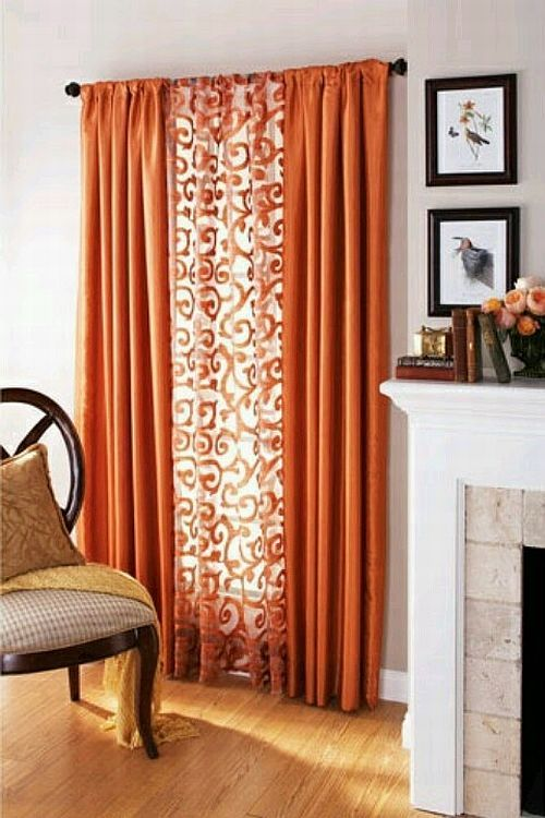Textile Thursday Decorating With Orange Curtains 部屋 ホーム