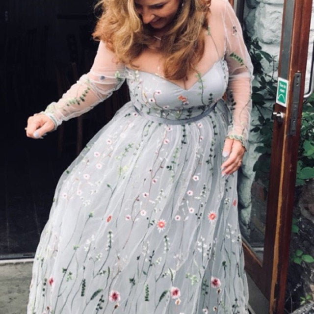 Embroidered Formal Dress Floral Maxi Dress Evening Dress Prom Dress Floral Dress Long Evening Dress Long Gown Embroidered Dress Ball Gown In 2020 Wedding Dresses With Flowers Long Gown For,Dresses To Go To A Wedding