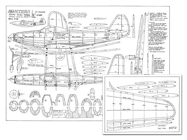 P 39 Airacobra Plan Thumbnail How To Plan Model Airplanes Model Planes