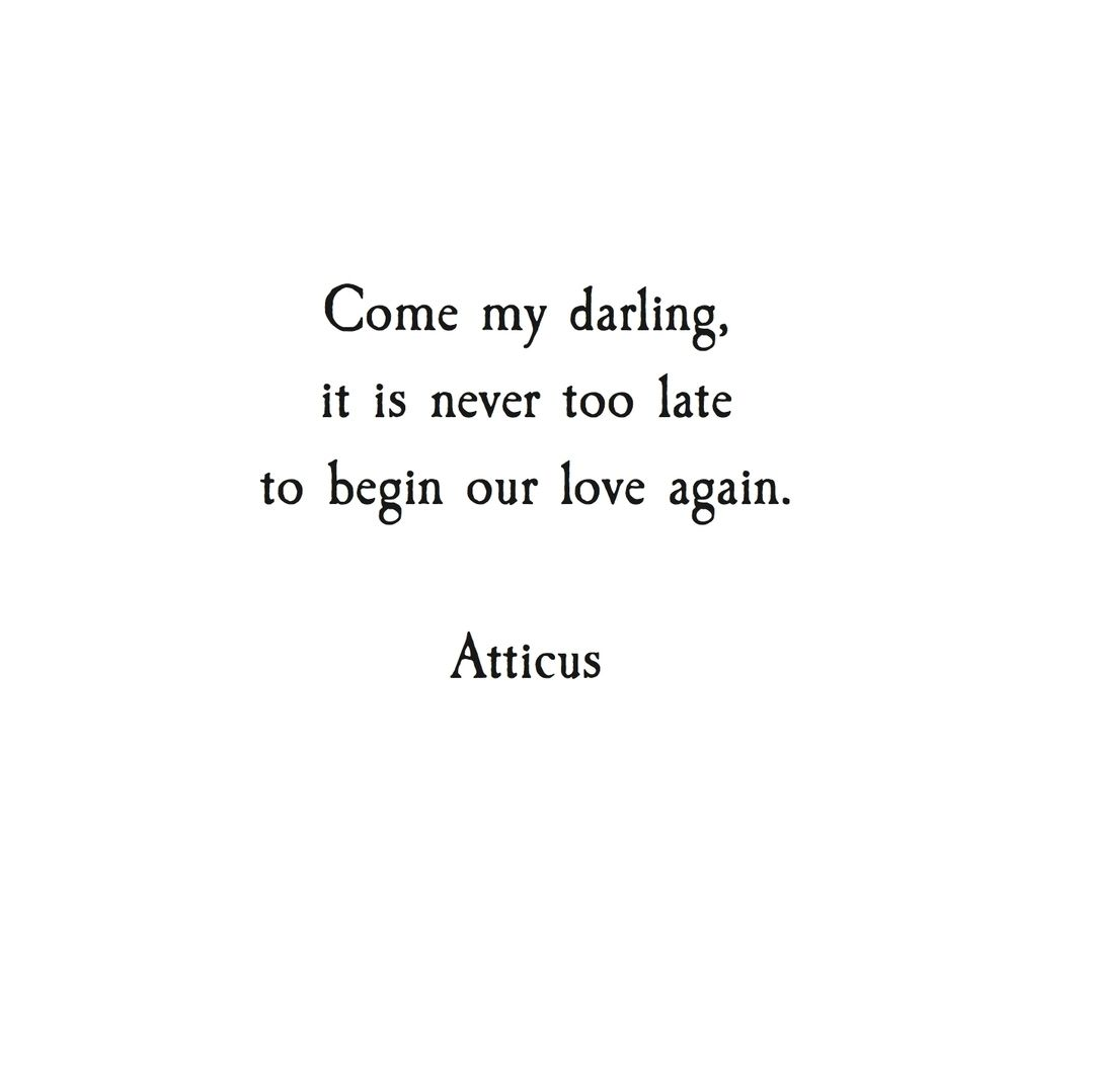 Love Poetry Quotes Come My Darling It Is Never Too Late To Begin Our Love Again