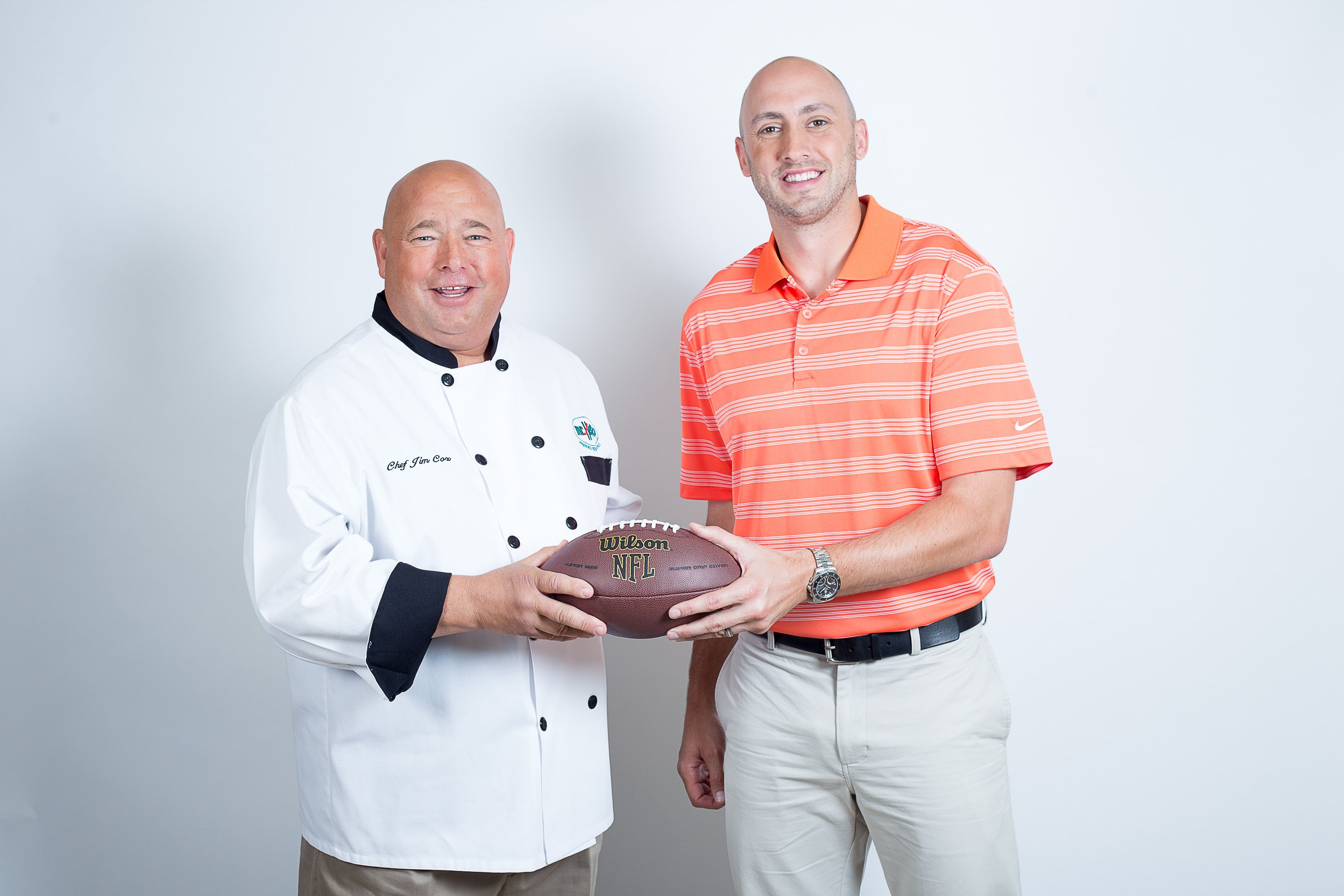 Chef Jim With Brian Hoyer Cleveland S Local Quarterback Brian Hoyer Chef Chef Jackets