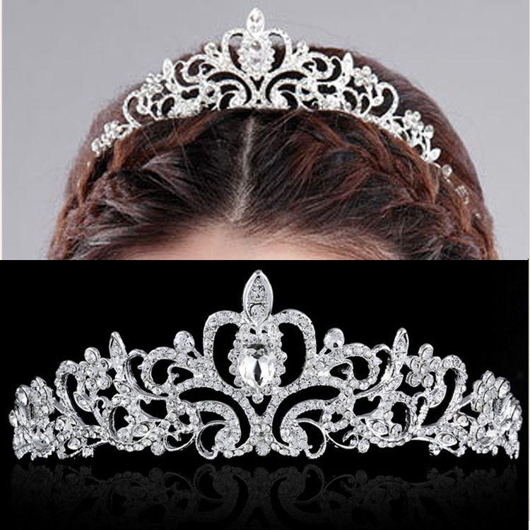 Barato Acessórios de cabelo de cristal Hairband strass Tiara de cabelo…