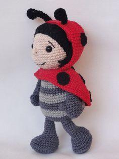 Amigurumi Crochet Pattern - Dotty the Ladybug Lieveheersbeestje