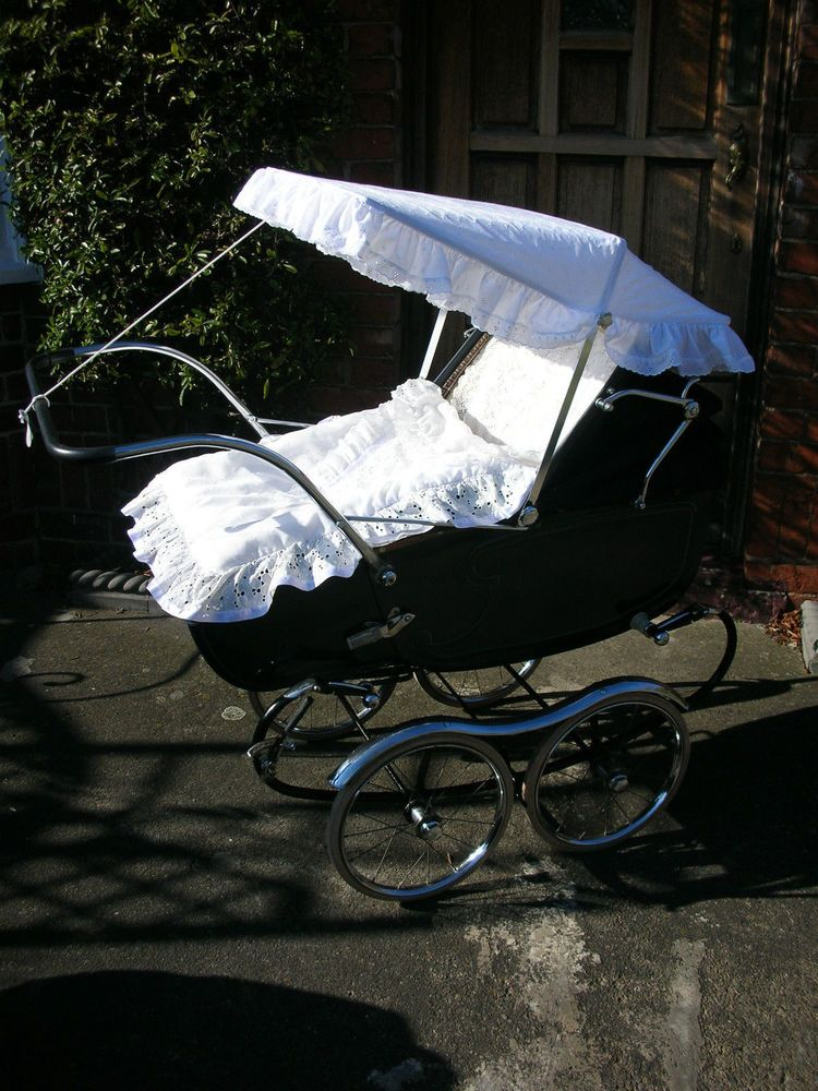 RARE VINTAGE PEDIGREE COACHBUILT DROP-TOE PRAM