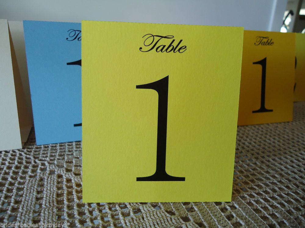 Yellow Table Numbers 1 to 10 Tent Style Wedding Birthday Party Table Decorations : tent style table numbers - memphite.com