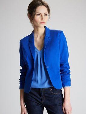 Veste en jean bleu femme