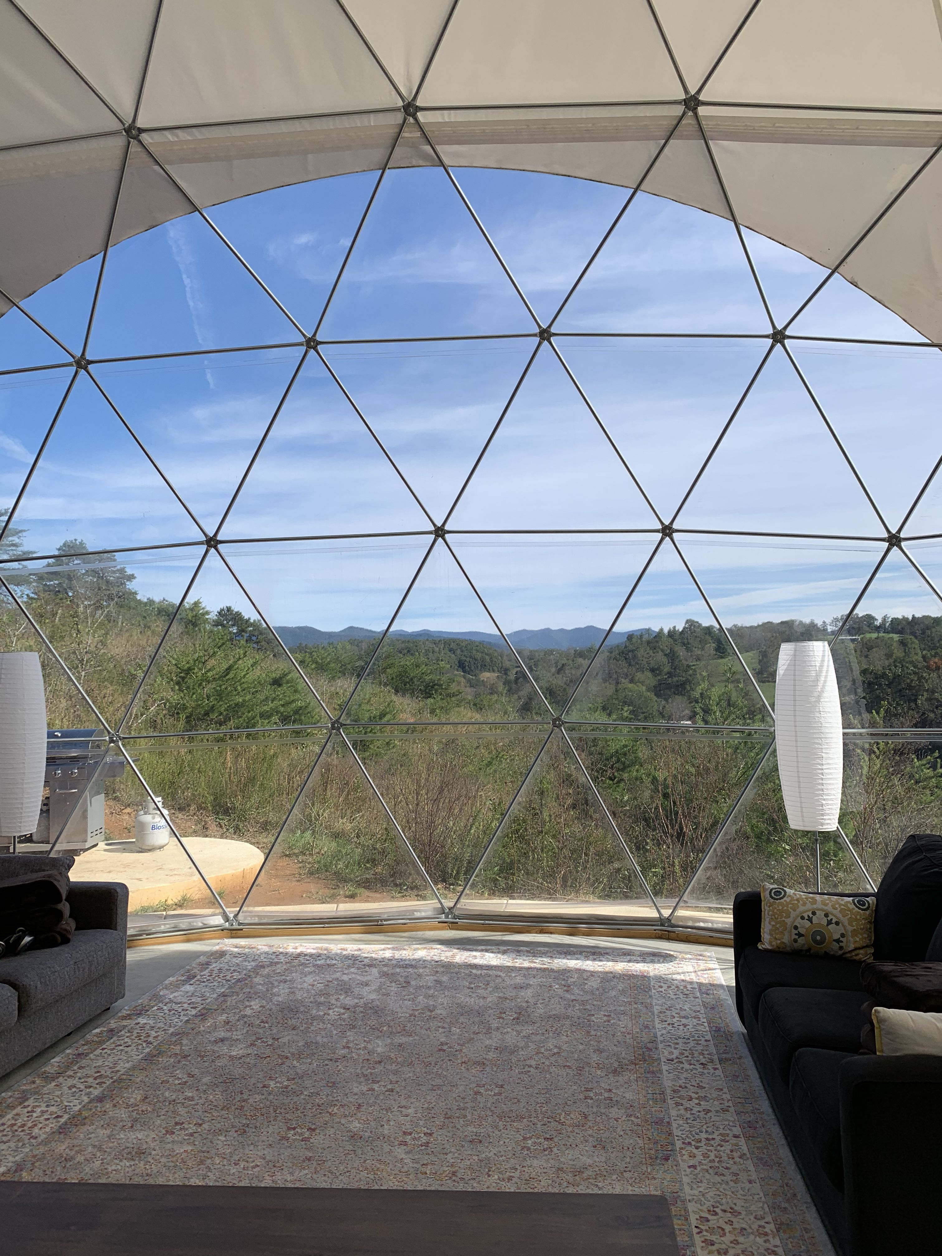 Huge Geodesic Dome View Asheville Glamping Glamping Tent Glamping