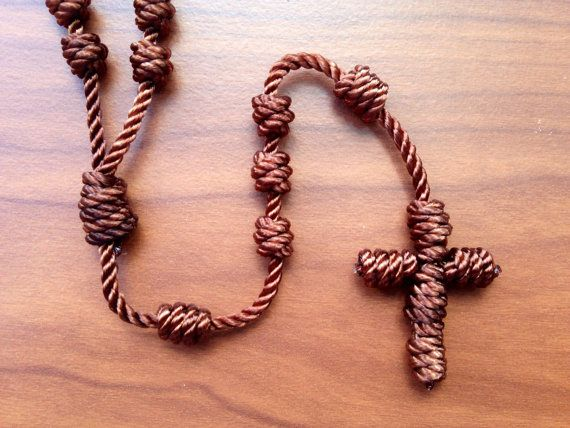 Brown Knotted Cord Rosary by Georgie Girl Originals on Etsy. $12 & FREE SHIPPING!