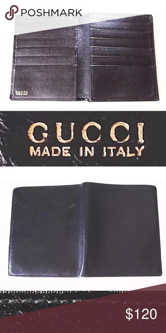 815e738e377 Authentic Gucci Black Leather Long Wallet 100% Authentic Genuine Men s Gucci  Black Leather Long Wallet Condition 7 10 (Good Used Condition) Style  Long  ...