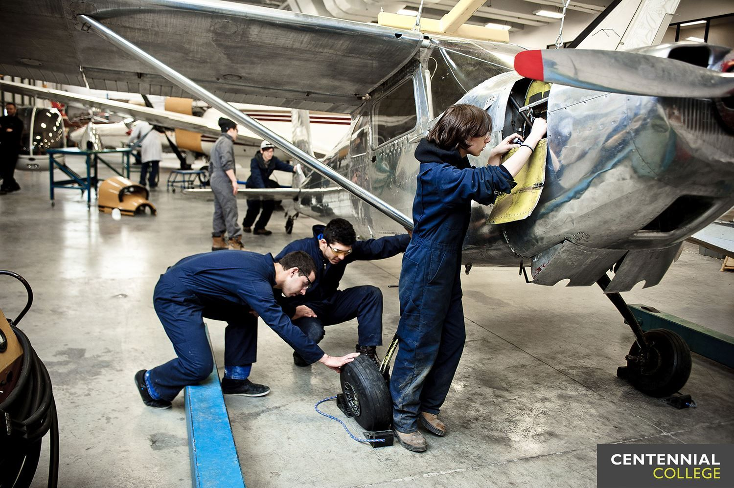 A Day In The Life Of An Aviation Technician Aircraft Maintenance Centennialcollege Student Fixing Planes I Aviation Mechanic Aviation Centennial College