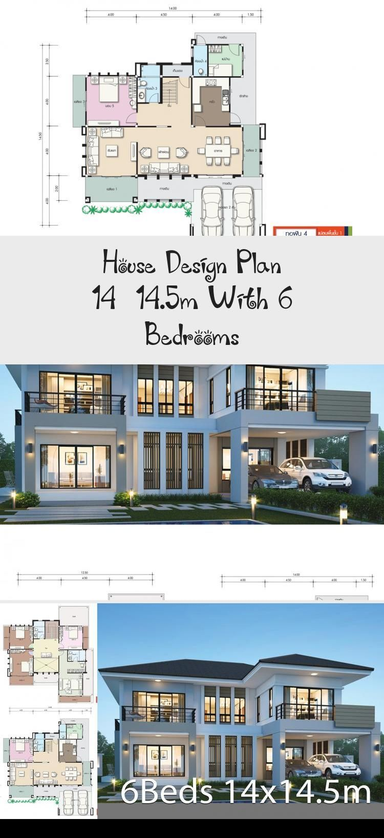 House Design Plan 14 14 5m With 6 Bedrooms House In 2020 Home Design Plans House Design Contemporary House Plans
