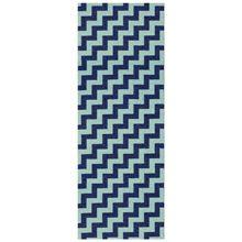 Gunnel Gulvtæppe, Blå/Aqua 70x200 cm