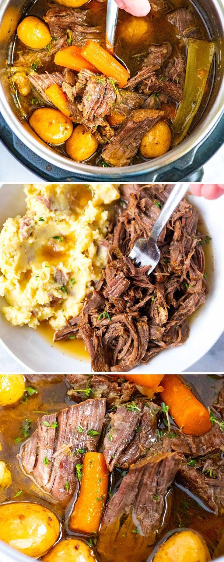 Easy Instant Pot Pot Roast (Tender and Juicy) #meltingpotrecipes