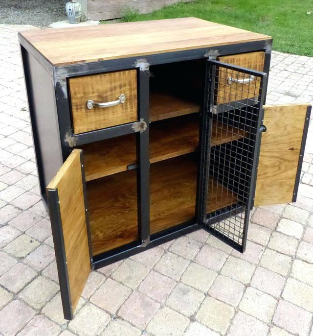 meuble bois et metal fabrication meuble bois mactal style industriel