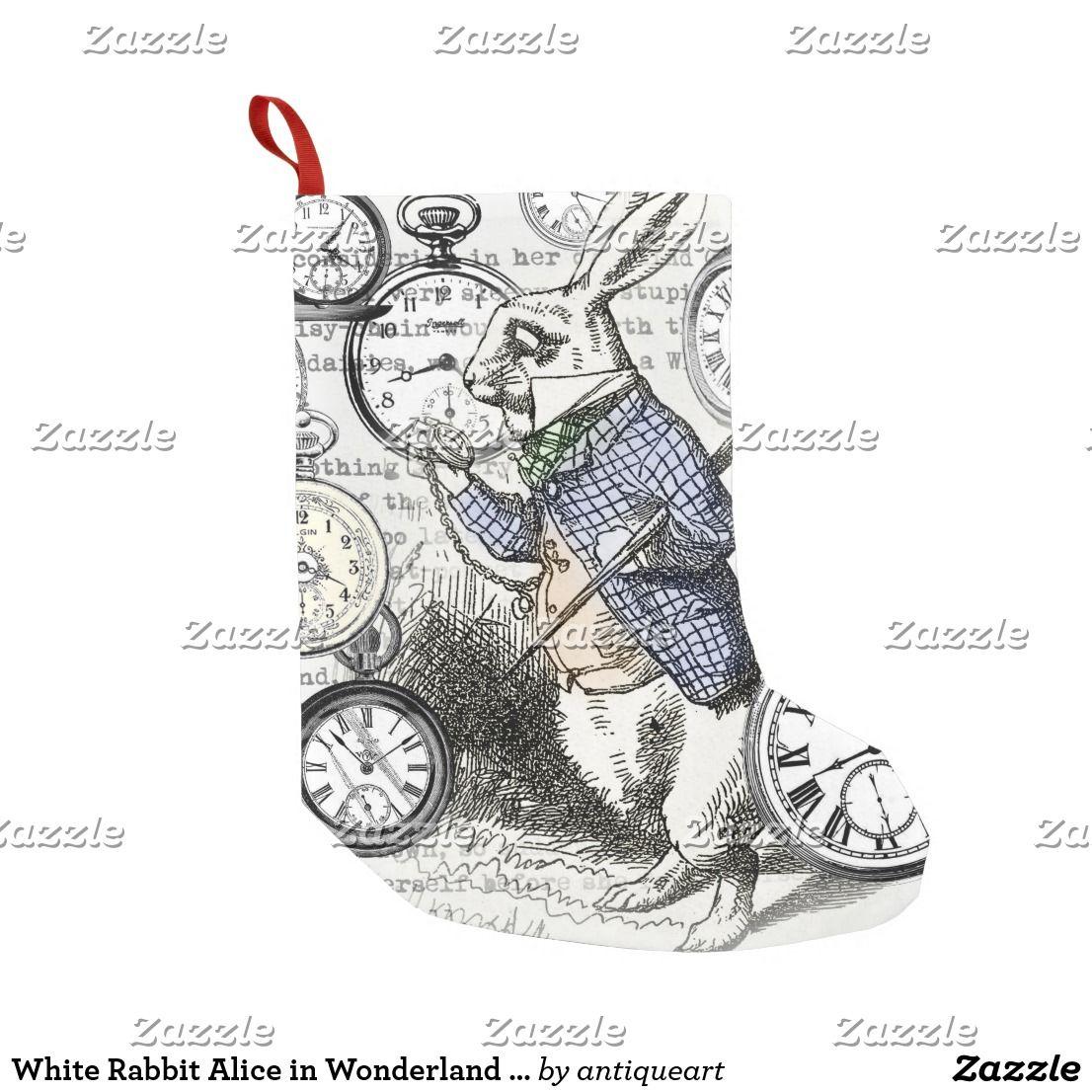 White Rabbit Alice In Wonderland Time Small Christmas