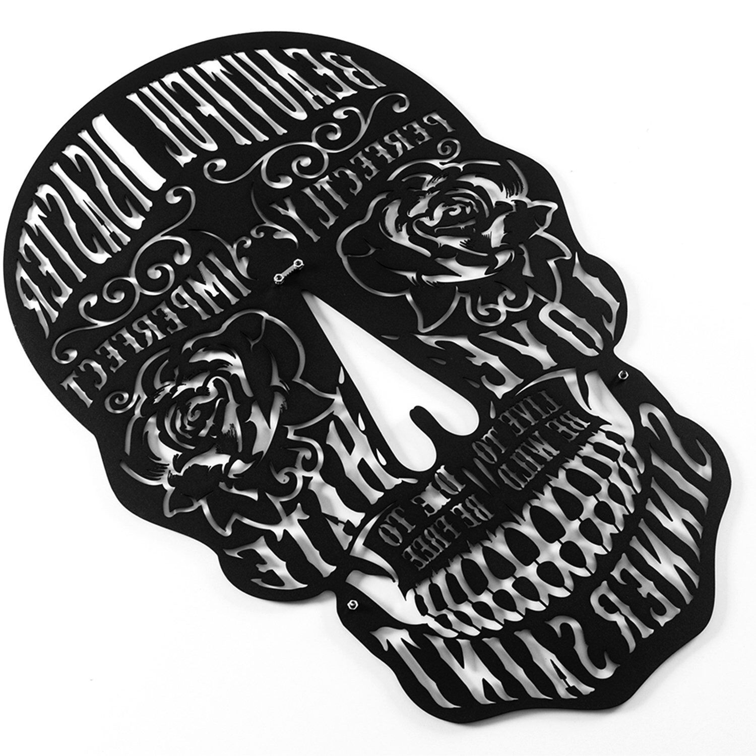 Ditcowest metal wall art skulls perfectly imperfect