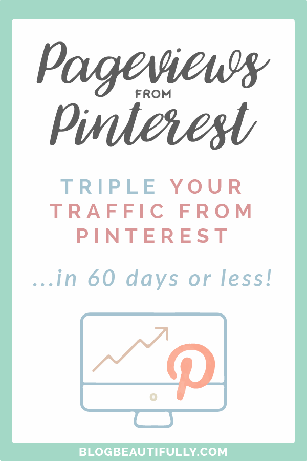 Ready to start harnessing the power of Pinterest for your blog? Learn my secret 6-step strategy to triple your pageviews in less than 2 months!