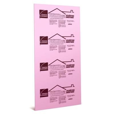 Owens Corning Foamular R3 Squared Edge Insulating Sheathing 1 2 In X 4 Ft X 8 Ft 36l At The Home Depot Sheathing Foam Insulation Board Rigid Foam Insulation