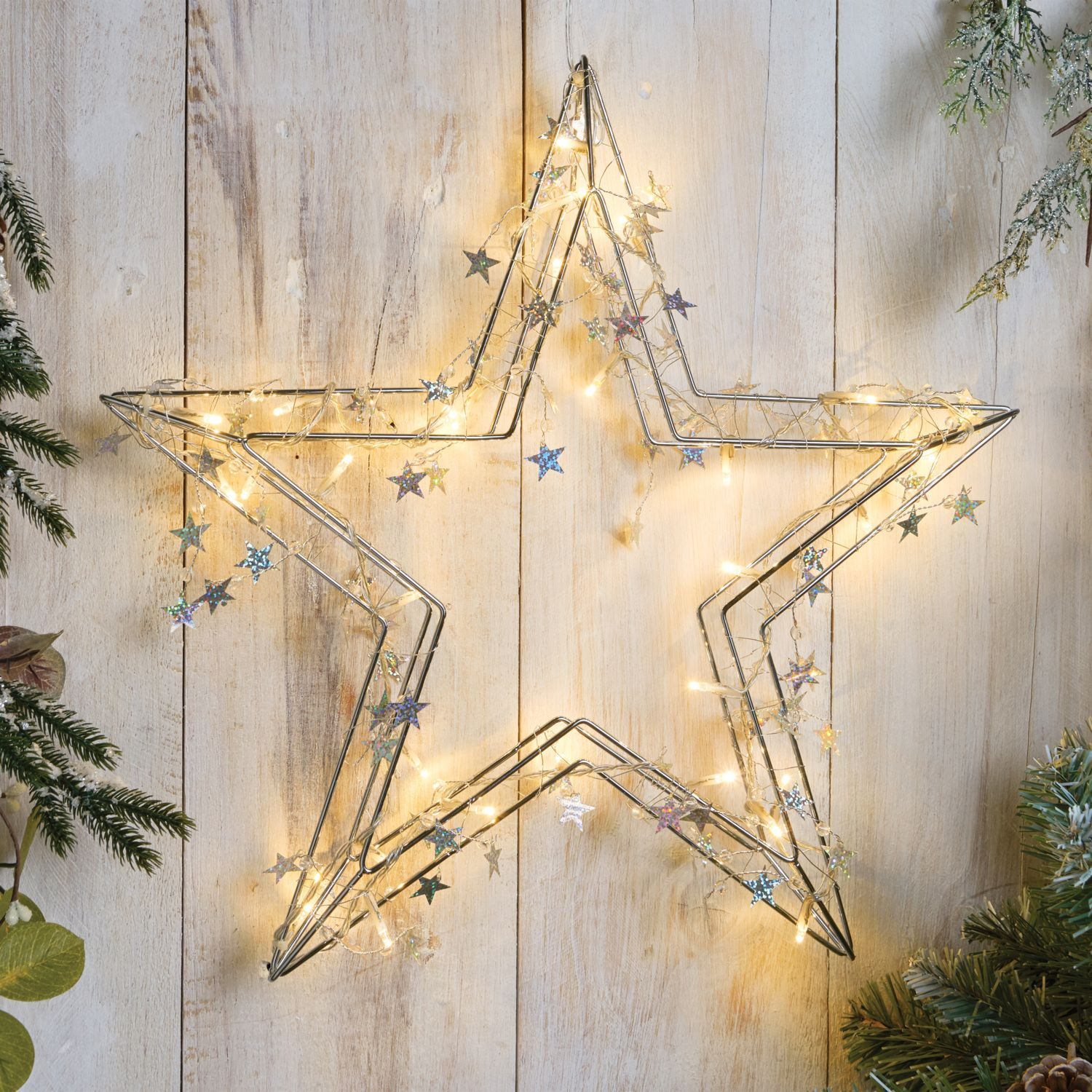 30 Led Hanging Metal Star | Christmas! | Pinterest | Star ...