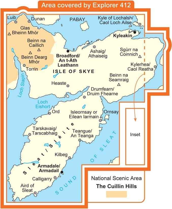 Os Map Of Ireland.Os Map Skye Sleat Over The Sea To Skye Explorer Map Map