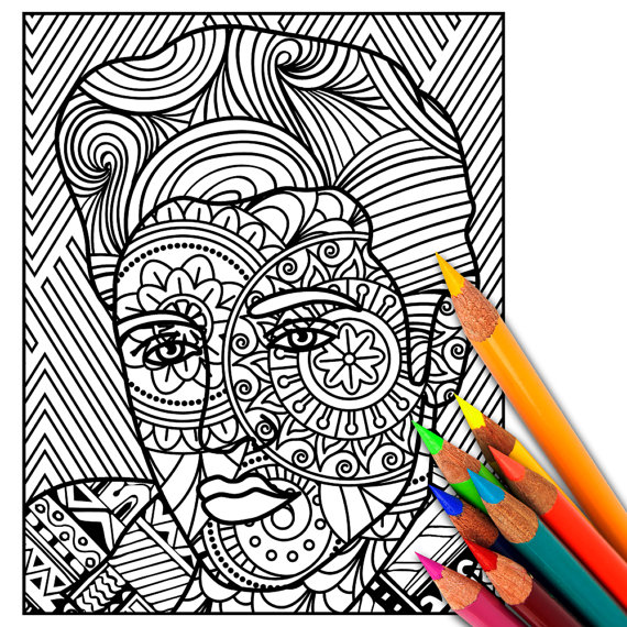 ELVIS Coloring Page, Adult Coloring Page, Adult Coloring ...