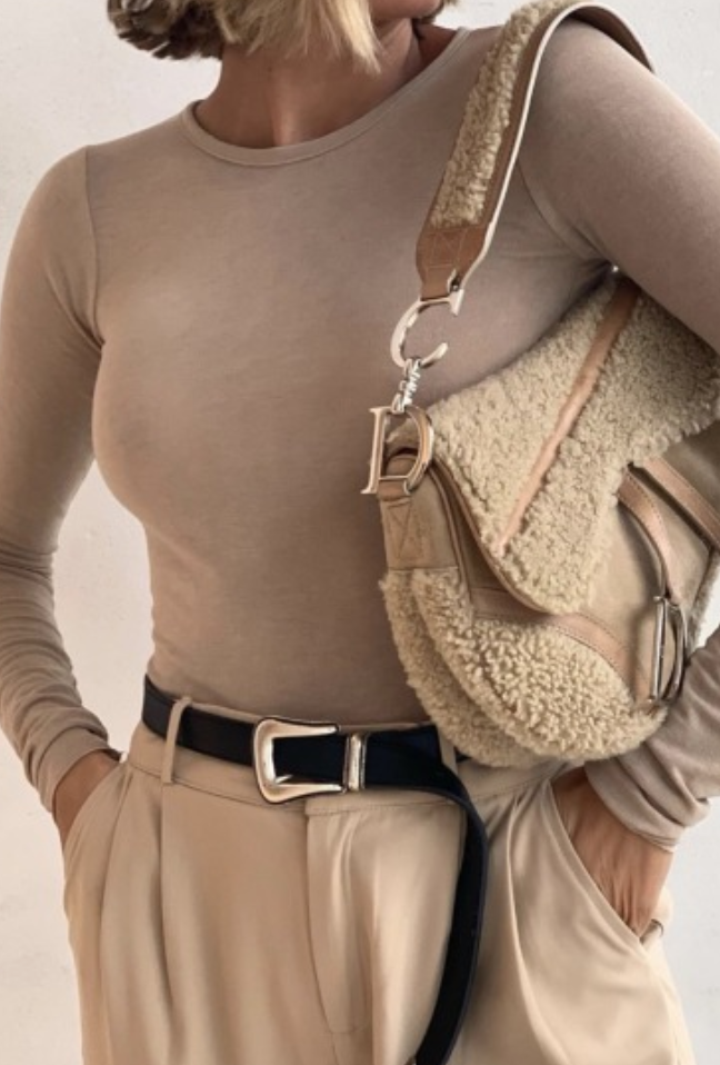 pinterest kyliieee  christian dior saddle bag outfit ideas for women in 20s  capsule wardrobe all neutrals outfit aesthetic fashion ideas for women in 20s and 30s  minima...
