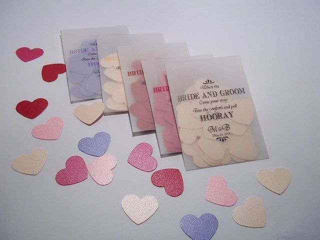 Wedding Confetti Vellum Bags Filled