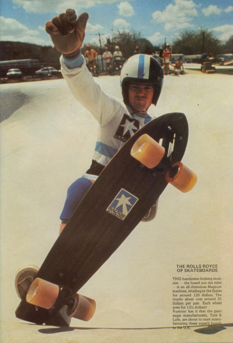 Magnum Board Ad Vintage Skateboards Old School Skateboards