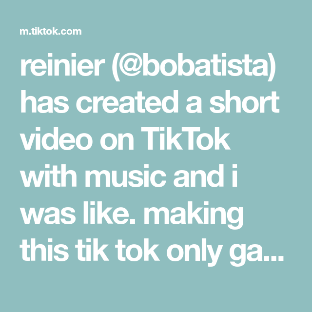 Reinier Bobatista Has Created A Short Video On Tiktok With Music And I Was Like Making This Tik Tok Only Gave Me A Reason To Sta Music Handwriting Tutorial
