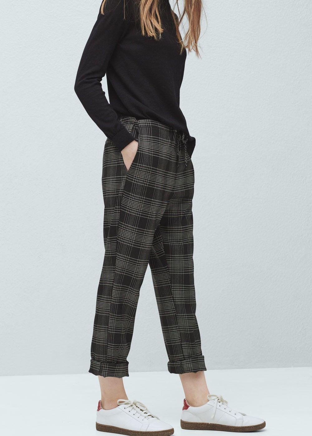 Pantalón cuadros cinturón - Mujer en 2019  4e30325954aa5