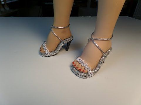 how to make high heel doll shoes part 3  youtube  doll