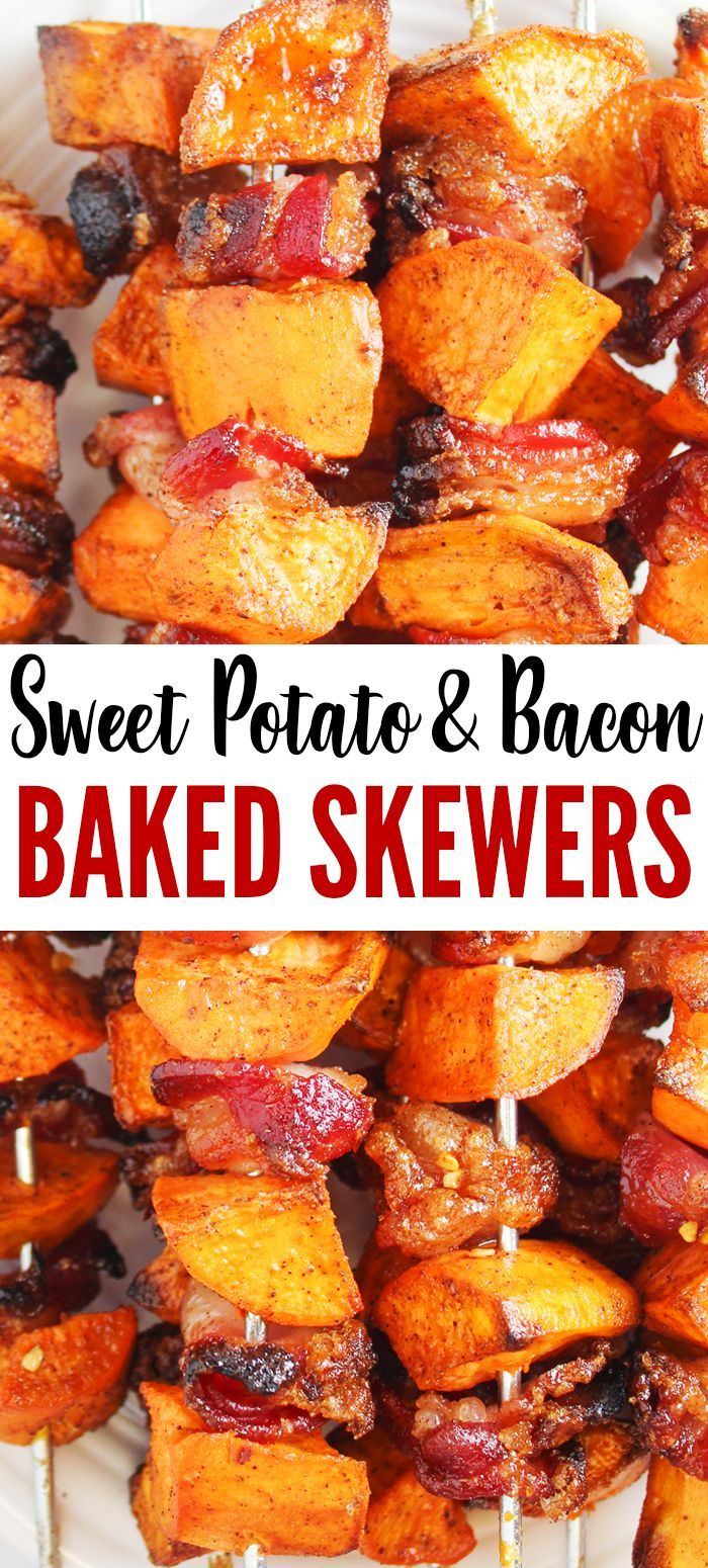 Spiced Sweet Potato & Bacon Skewers  - HOME COOKING MEMORIES - #Bacon #cooking #home #MEMORIES #pota...
