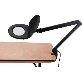 8 Diopter LED Magnifying Lamp With Covered Metal Arm, Black