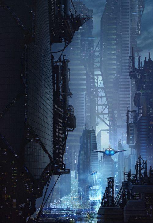 Science Fiction World — paprikapiano: >City by Subroto Bhaumik (more:...