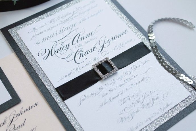 Glitz And Glamour Wedding Invitations Divagonedomestic