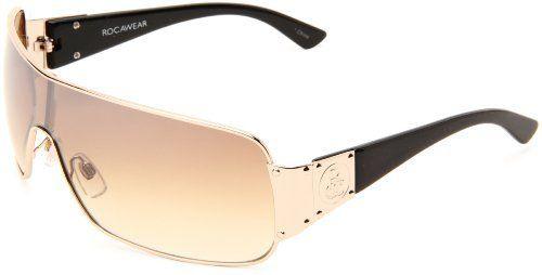 Rocawear Men\'s R1175 GLD Shield Sunglasses,Gold Frame/Gradient Brown ...