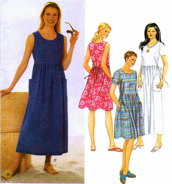 Plus Size Summer Dress Sewing Pattern Comfy Loose Fitting Dresses