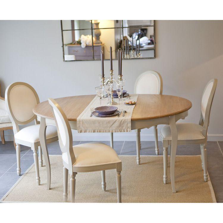 Ensemble Table + 4 chaises composé de : 1 Table ronde avec ...