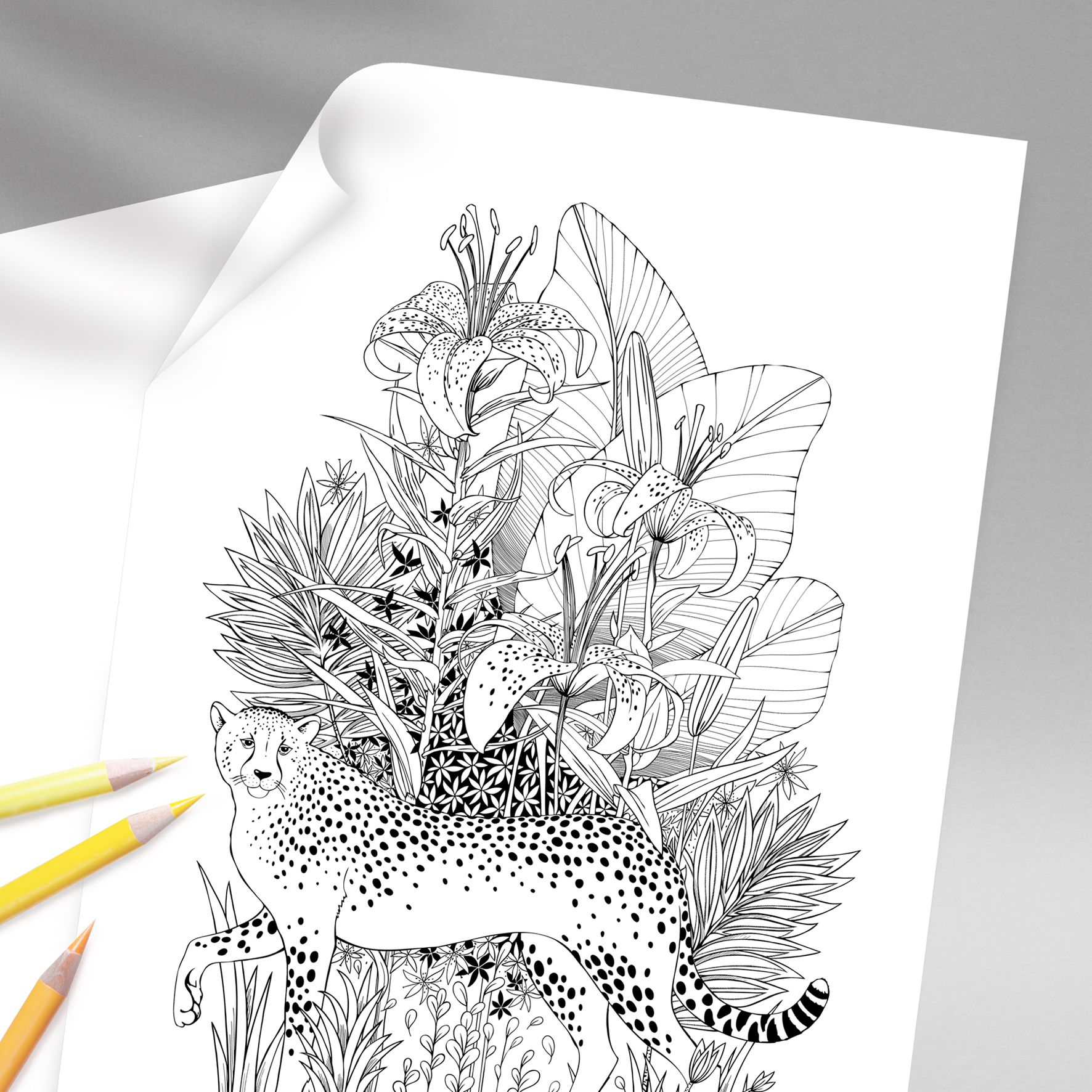 Tropical Life Art Print For Poster Wall Decor Home Etsy In 2020 Art Prints Prints Coloring Pages