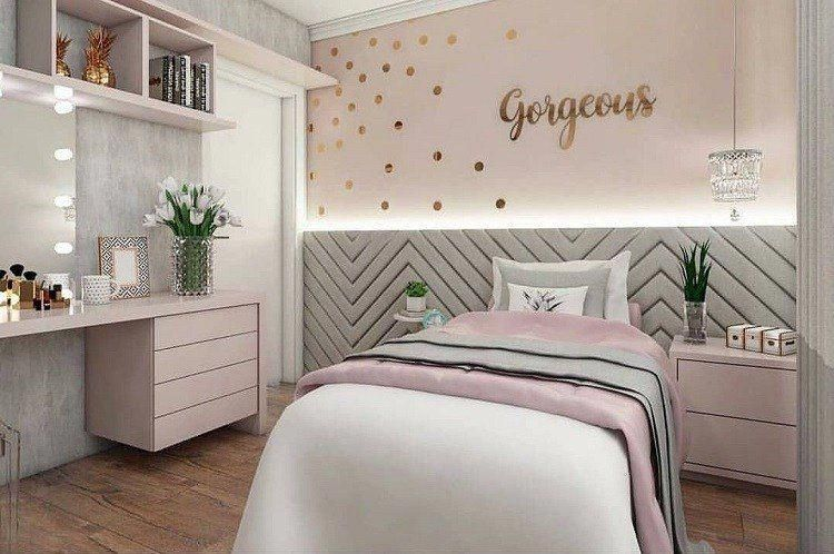 chambre ado fille moderne stickers muraux. Black Bedroom Furniture Sets. Home Design Ideas