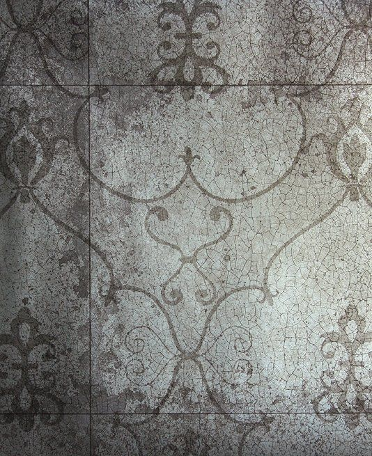 rococo mirror wallpaper silver wallpaper imitating antique mirror