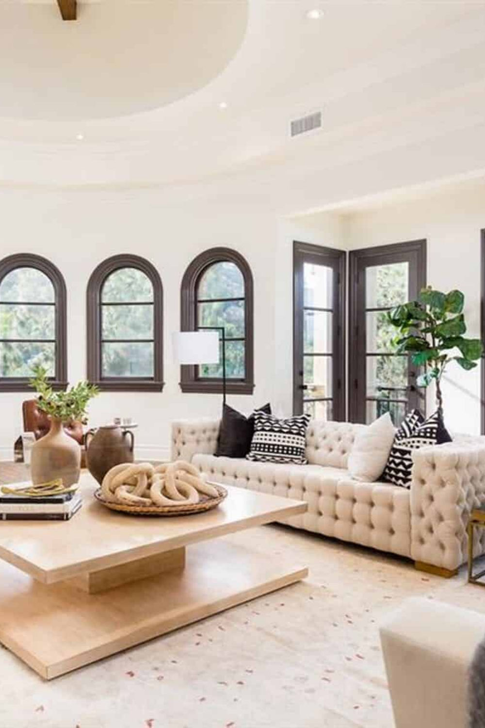 The Villa On Stone Canyon In 2020 Fresh Living Room Living Room Designs Mediterranean Living Rooms